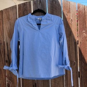 PETITE MADEWELL STRIPED COTTON BLOUSE